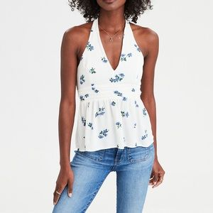 American Eagle Outfitters Tops - AE printed halter top